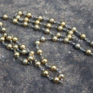 Jewelry - [5/$25] Vintage Gold Silver Small Ball Link VTG